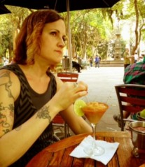 Renee + tamarind margarita in Coyoacan = VERY HAPPY RENEE